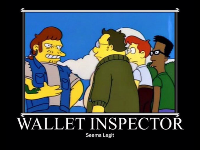 Simpsons Snake - Wallet Inspector