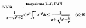 Abramowitz and Stegun Inequalities Formula