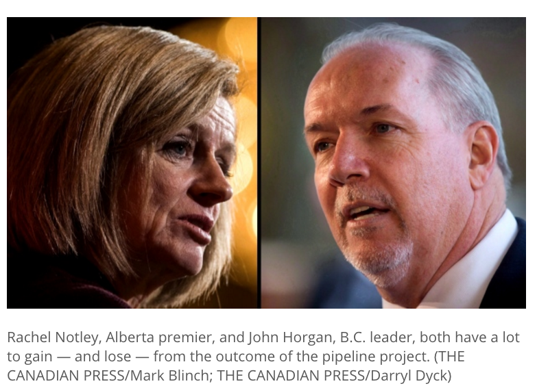 Notley vs Horgan 2018