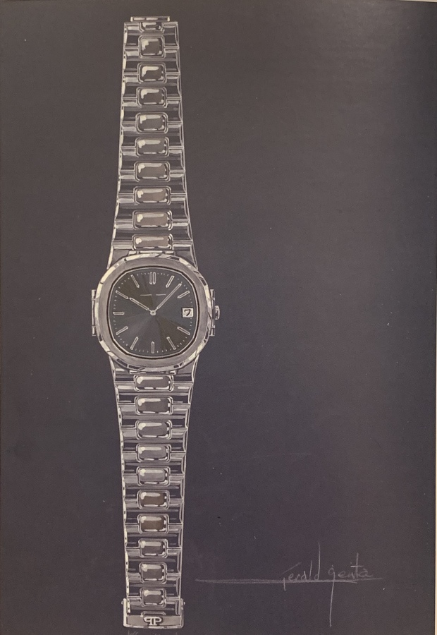 Gerald Genta original sketch of Patek Philippe Nautilus